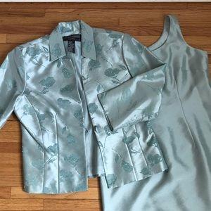 Jessica Howard Evenings sleeveless dress + jacket